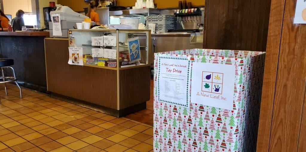 Donation Box at Goodwins Family Restaurant