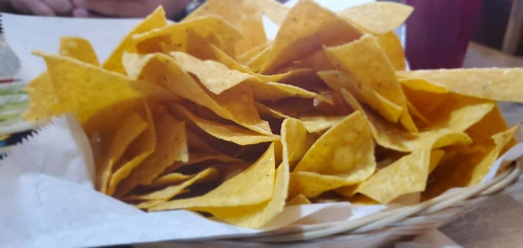 Fresh, Complimentary Chips from El Pedregal