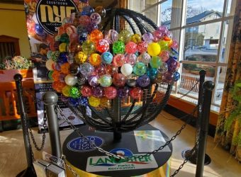 Glass Ornament Globe for the Glasstown Countdown New Years Eve Event