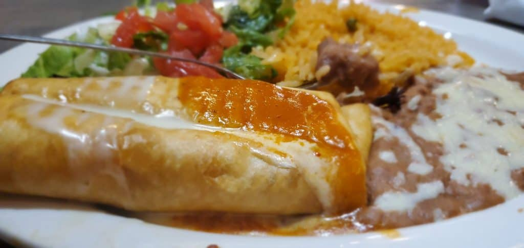 Lunch Chimichanga from El Pedregal