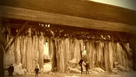 Ohio Erie Canal Circleville aqueduct1900 frozen ice