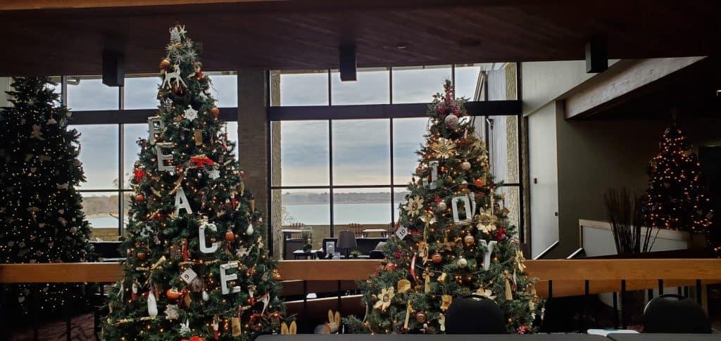 Peace and Joy Christmas Trees at Deer Creek Lodge