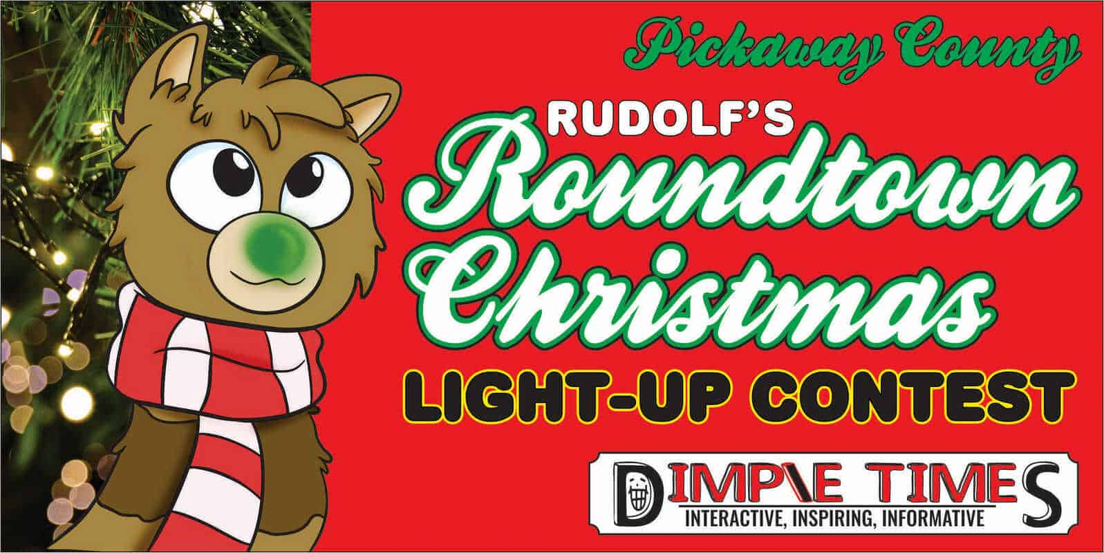 Rudolf Roundtown Christmas Light Up contest article