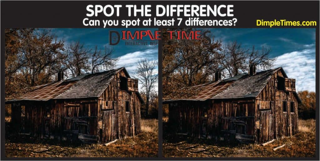 Old time shack – Can you spot the difference