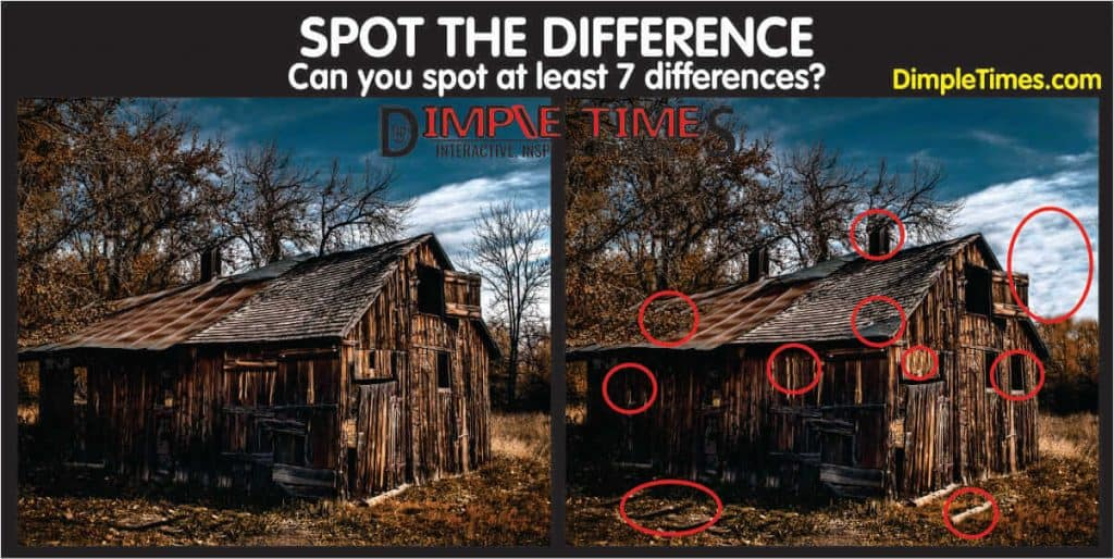 Spot the Difference old shack answers