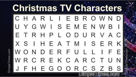 Christmas TV Shows Word Search 2019