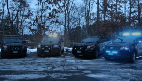police vehicles syncrhonized to Trans-Siberian Orchestra