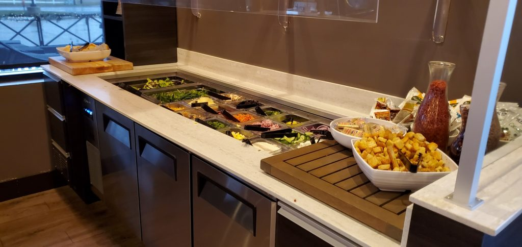 Right-side view of Salad Bar.