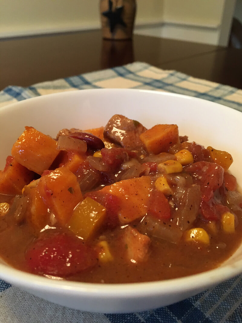 Spicy chicken and sweet potato stew warms up everyone