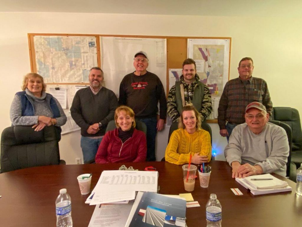 Township officials and crew from Survival Flight