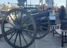 Civil War Cannon in front of Memorial Hall