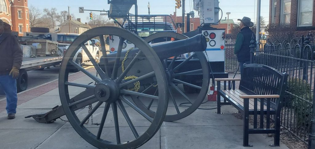 Restoration process underway for Civil War era cannon