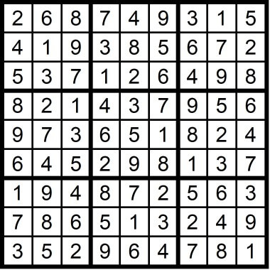 Easy Sudoku February 14 2020