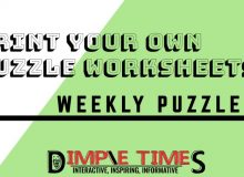 Print your own puzzle worksheets