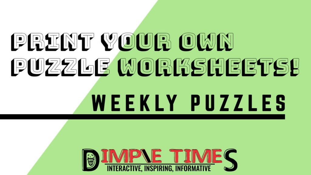DIMTIM – Weekly Puzzles – March 2, 2020