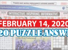 Puzzle Answers February 14 2020