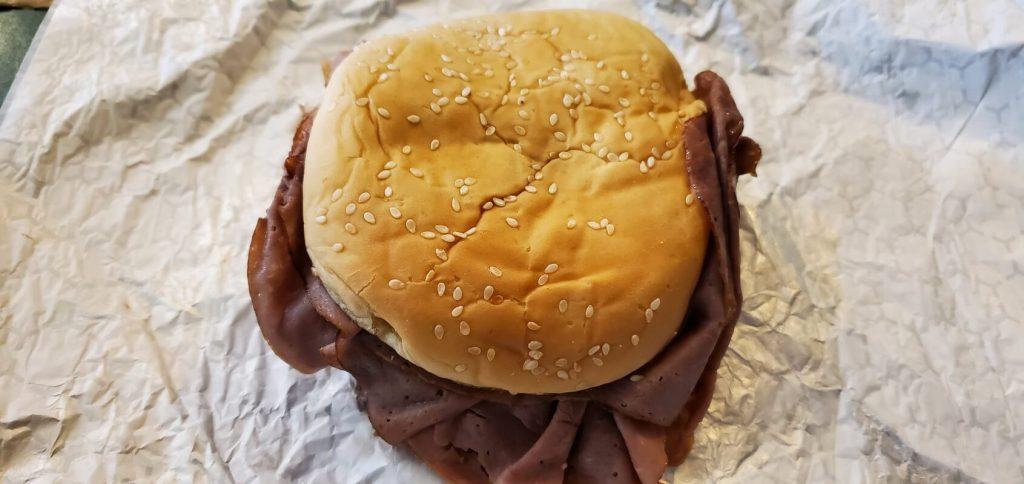 Roast Beef sandwich from Ranchers