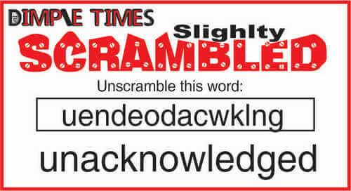 Slightly Scrambled page 1 February 14 2020