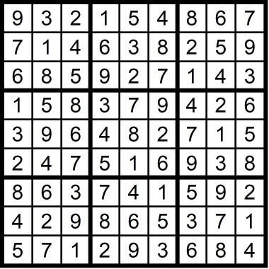 Very Easy Sudoku February 14 2020