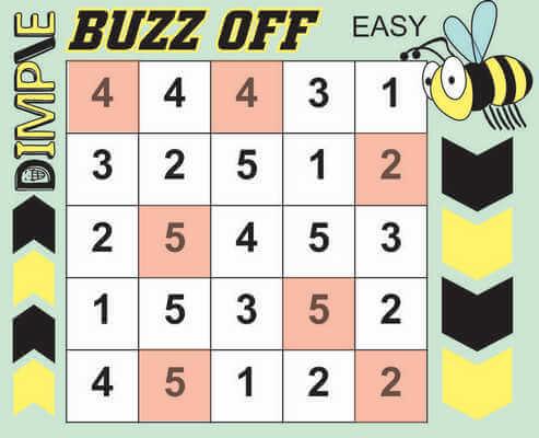 Dimple Buzz Off Hitori Solution April 24 2020