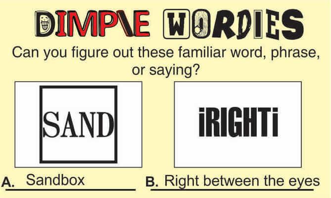 Dimple Wordies Page 1 April 24 2020