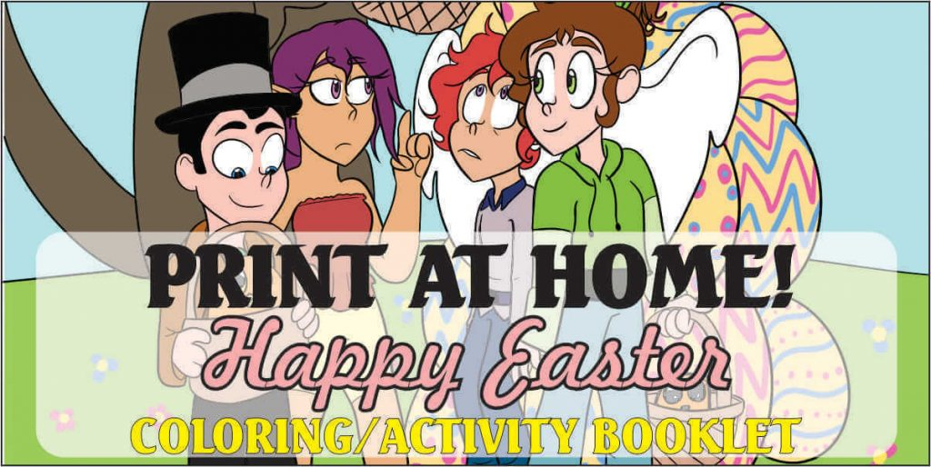 Download and print Easter activity/coloring book