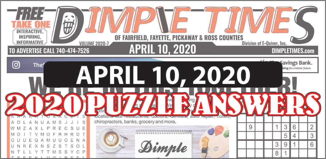 Puzzle Answers April 10 2020