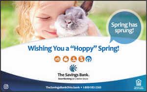 The Savings Bank wishing you a Hoppy Spring