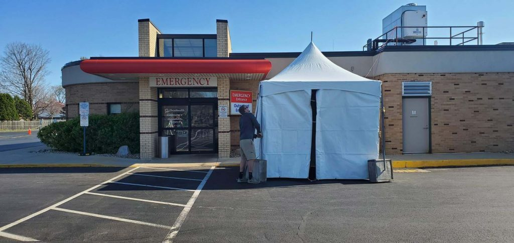 Triage tent to be set up outside OhioHealth Berger Hospital