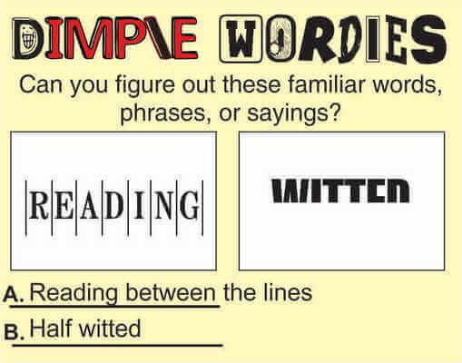 Dimple Wordies May 8 2020