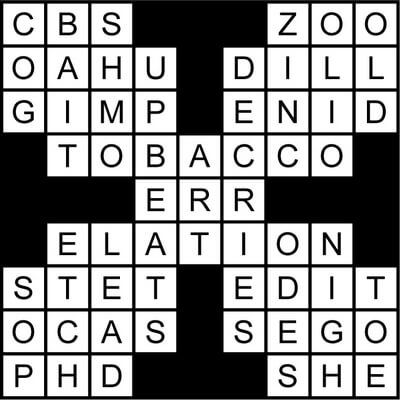 Famed Word Book Crossword Puzzle May 22 2020