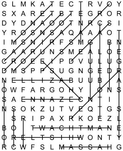 Impressionist word search May 8 2020