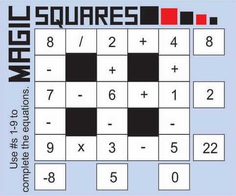 Magic squares math May 8 2020