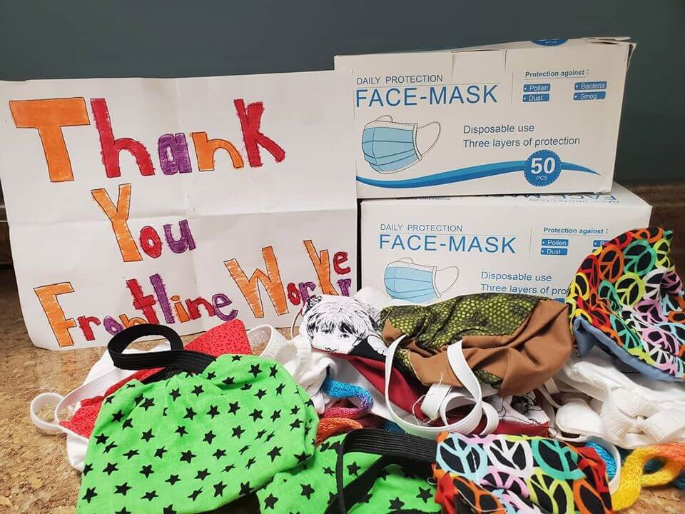 Donation of masks from community made to Fayette County hospital