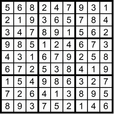 Sudoku Medium May 22 2020
