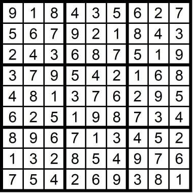Sudoku Very Easy May 8 2020