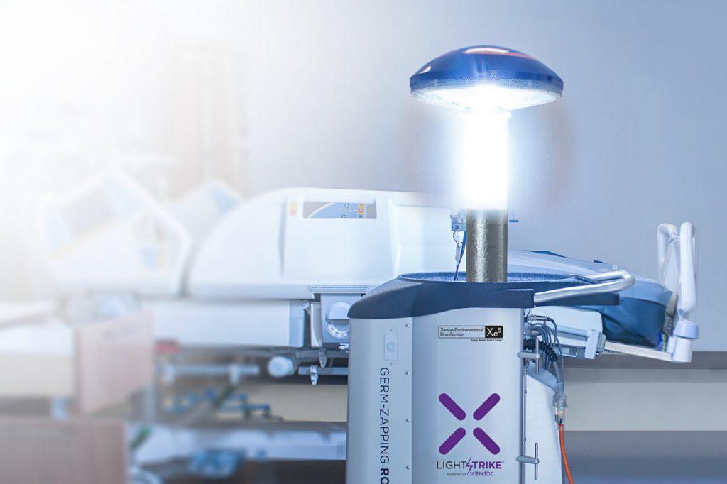 Robot zaps germs and viruses with UV light