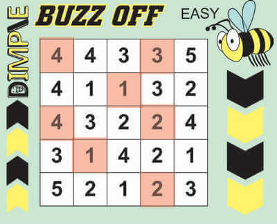 Buzz Off Hitori Solution July 10 2020