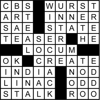 Ending with Drums, Cymbals Crossword July 24 2020