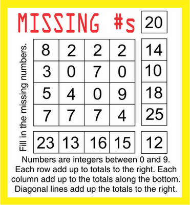 Missing Numbers July 10 2020