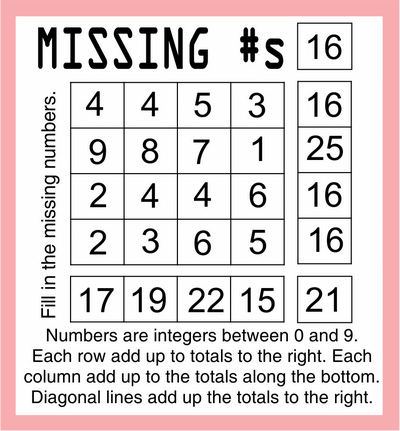 Missing Numbers page 6 July 24 2020