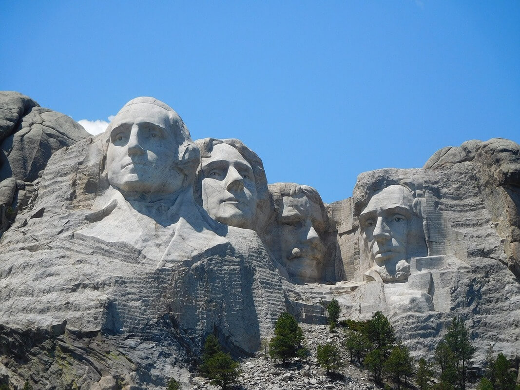 Three words The test of liberty or tyranny rushmore
