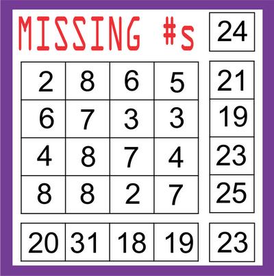 Missing Number Block September 11 2020