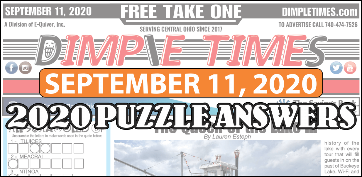 Puzzle Answers September 11 2020