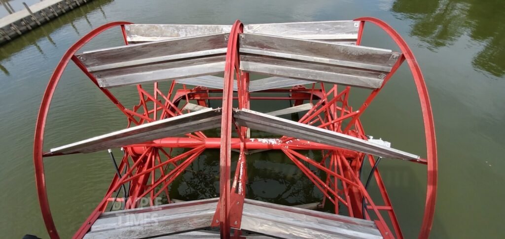 View of paddlewheel on Queen of the Lake at Buckeye Lake