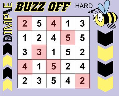 Buzz Off Hitori Solution October 9, 2020