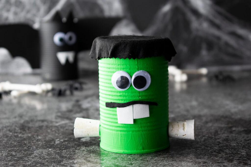 Halloween Spooky Frankenstein Can