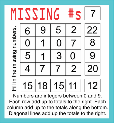 Missing Numbers October 9, 2020
