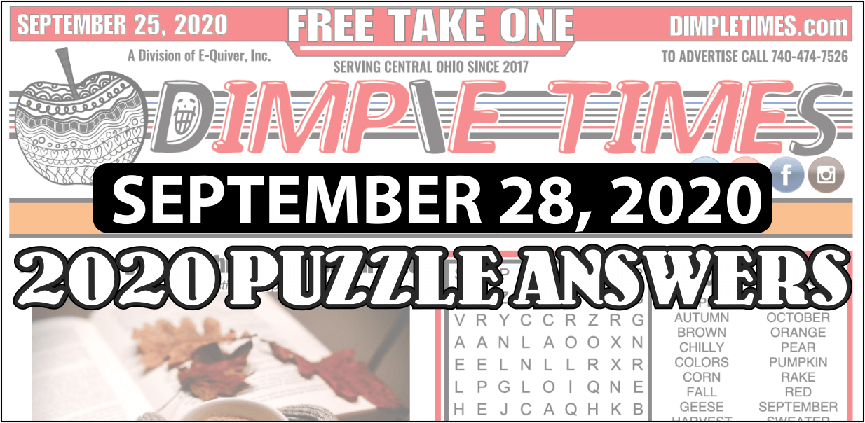 Puzzle Answers for September 25, 2020