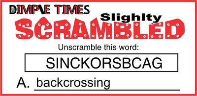 Slighlty Scrambled October 9, 2020